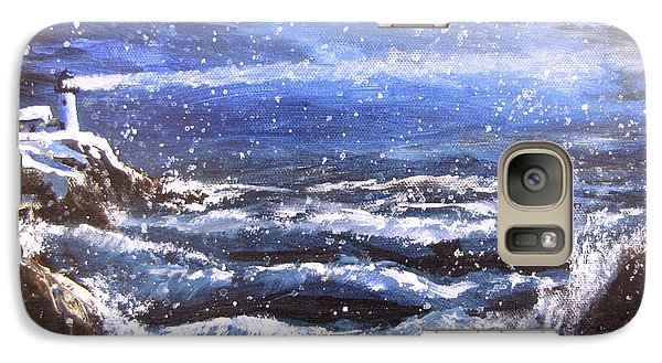Galaxy Case featuring the painting Winter Coastal Storm by Jack Skinner