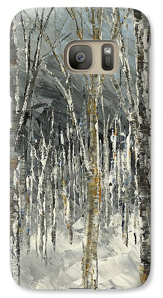 Galaxy Case featuring the painting Winter Country by Tatiana Iliina