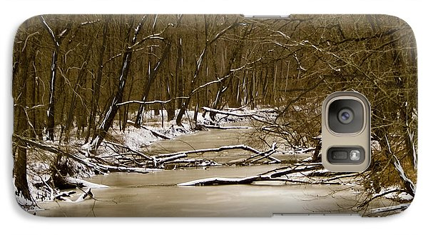 Galaxy Case featuring the photograph Winter Creek by Bonnie Willis