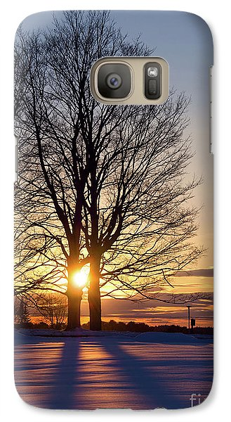 Galaxy Case featuring the photograph Winter, Crystal Spring Farm, Brunswick, Maine -78592 by John Bald