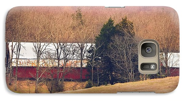 Galaxy Case featuring the photograph Winter Day At The Farm by Debbie Karnes