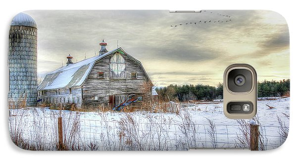 Galaxy Case featuring the digital art Winter Days In Vermont by Sharon Batdorf