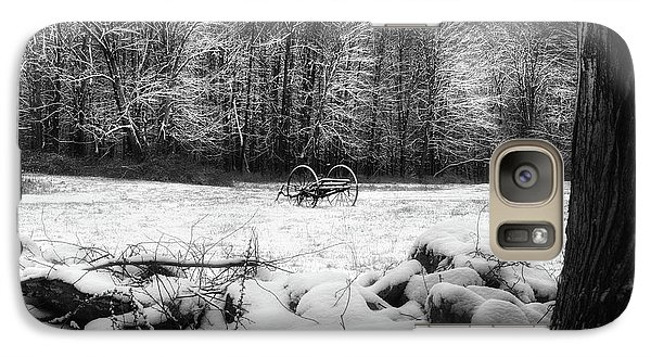 Galaxy S7 Case featuring the photograph Winter Dreary Square by Bill Wakeley