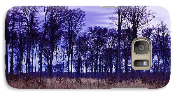 Galaxy Case featuring the photograph Winter Forest At Sunset In Hungary by Gabor Pozsgai