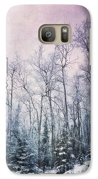 Winter Forest Galaxy Case by Priska Wettstein