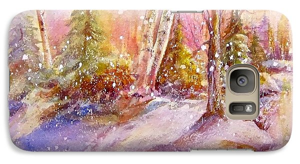 Galaxy Case featuring the painting Winter Forest  by Patricia Schneider Mitchell