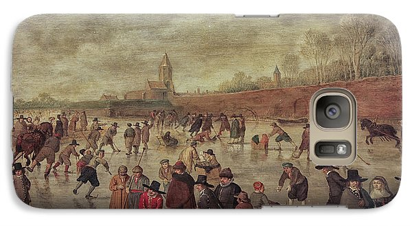 Galaxy Case featuring the photograph Winter Fun Painting By Barend Avercamp by Patricia Hofmeester