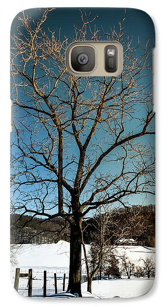 Galaxy Case featuring the photograph Winter Glow by Karen Wiles