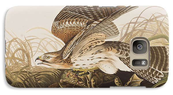 Winter Hawk Galaxy S7 Case by John James Audubon