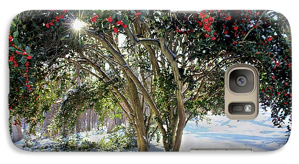 Galaxy Case featuring the photograph Winter Holly by Jessica Brawley