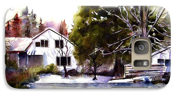 Galaxy Case featuring the painting Winter Homestead by Marti Green