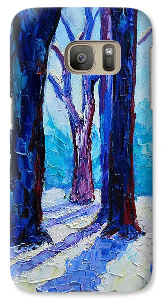 Galaxy Case featuring the painting Winter Impression by Ana Maria Edulescu