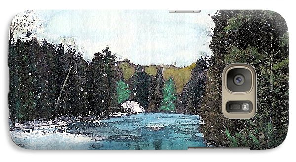 Galaxy Case featuring the mixed media Winter In Kalkaska by Desiree Paquette