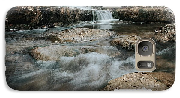 Galaxy Case featuring the photograph Winter Inthe Falls by Iris Greenwell