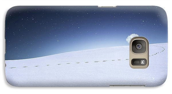 Galaxy Case featuring the photograph Winter Landscape by Bess Hamiti