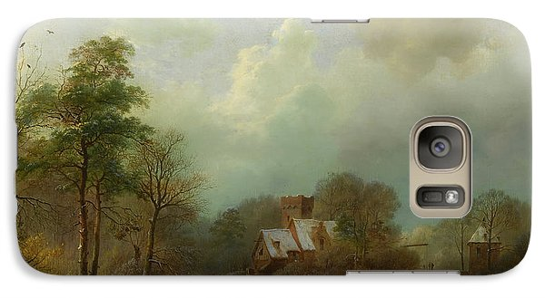 Galaxy Case featuring the painting Winter Landscape - Holland by Barend Koekkoek