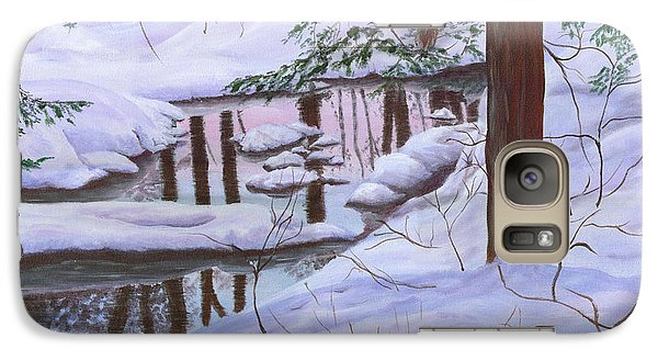 Galaxy Case featuring the painting Winter Landscape by Judy Filarecki
