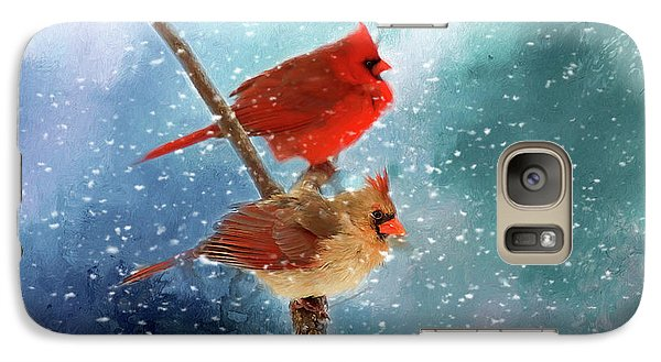 Galaxy Case featuring the photograph Winter Love by Darren Fisher