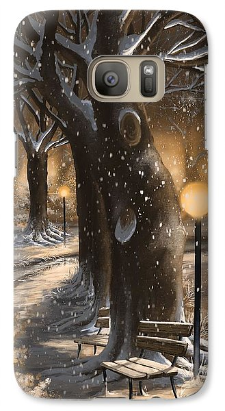 Galaxy Case featuring the painting Winter Magic by Veronica Minozzi