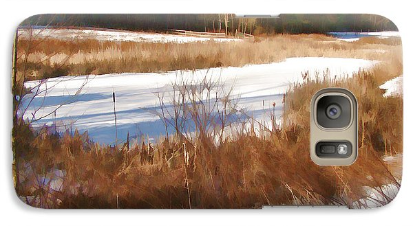 Galaxy Case featuring the photograph Winter Marsh by Betsy Zimmerli