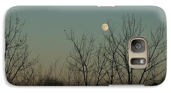 Galaxy S7 Case featuring the photograph Winter Moon by Ana V Ramirez