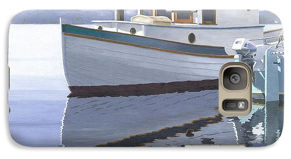 Galaxy Case featuring the painting Winter Moorage by Gary Giacomelli