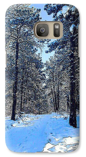 Galaxy Case featuring the digital art Winter Morning by Walter Chamberlain