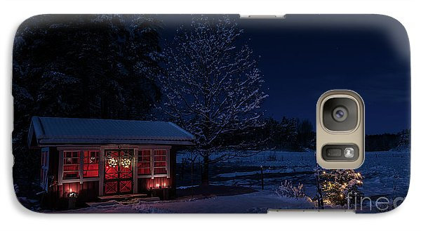 Galaxy Case featuring the photograph Winter Night by Torbjorn Swenelius