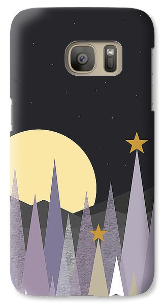 Galaxy Case featuring the digital art Winter Nights - Vertical by Val Arie