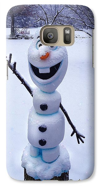 Galaxy Case featuring the sculpture Winter Olaf by Doug Kreuger