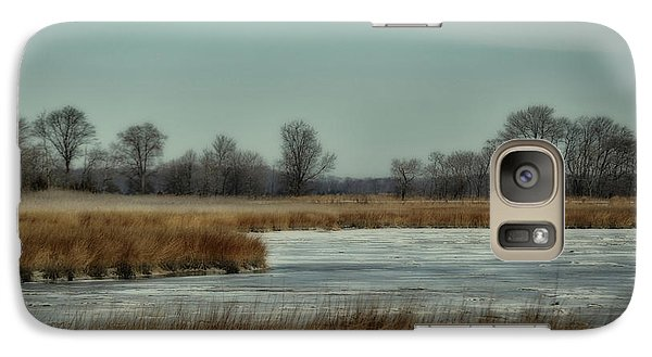 Galaxy Case featuring the photograph Winter On The Water by Tamera James