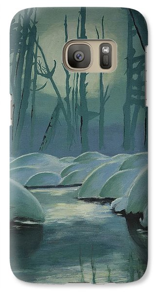 Galaxy Case featuring the painting Winter Quiet by Jacqueline Athmann