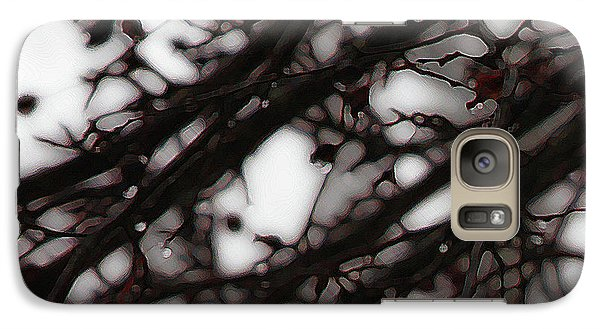 Galaxy Case featuring the photograph Winter Rain - 3 by Linda Shafer