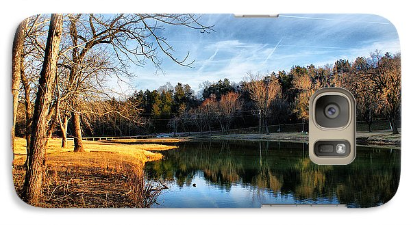 Galaxy Case featuring the photograph Winter River by Rick Friedle