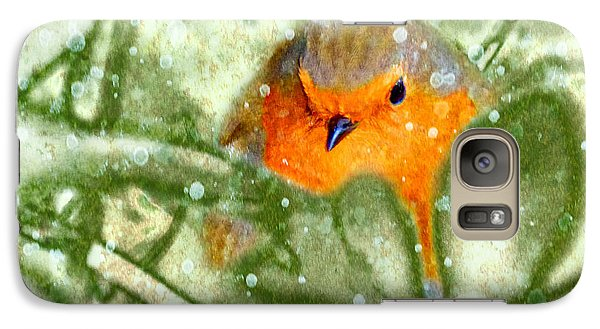 Galaxy Case featuring the photograph Winter Robin by LemonArt Photography