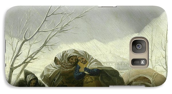 Winter Scene Galaxy S7 Case by Goya