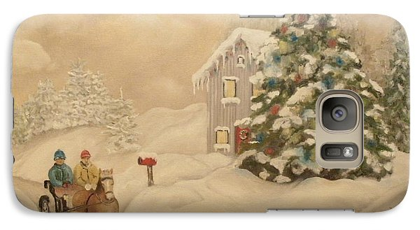 Galaxy Case featuring the painting Winter Scene by John Stuart Webbstock