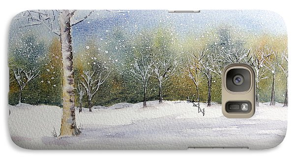 Galaxy Case featuring the painting Winter Silence by Jan Cipolla