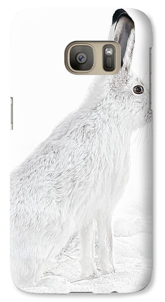 Galaxy Case featuring the photograph  Winter Snowshoe Hare by Jennie Marie Schell
