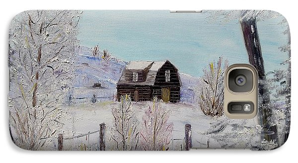 Galaxy Case featuring the painting Winter Solace by Marilyn  McNish