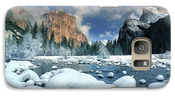 Galaxy Case featuring the photograph Winter Storm In Yosemite National Park by Dave Welling