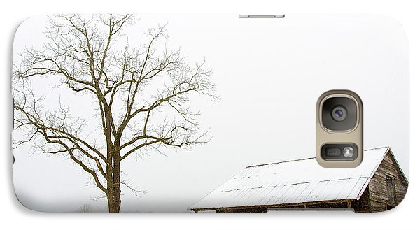 Galaxy Case featuring the photograph Winter Storm On The Farm by George Randy Bass