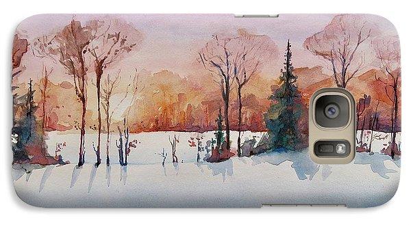 Galaxy Case featuring the painting Winter Sunrise by Geni Gorani