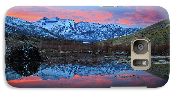 Galaxy Case featuring the photograph Winter Sunset At The Wallsburg Turn. by Johnny Adolphson