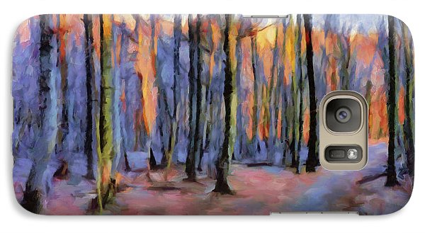 Winter Sunset In The Beech Wood Galaxy S7 Case