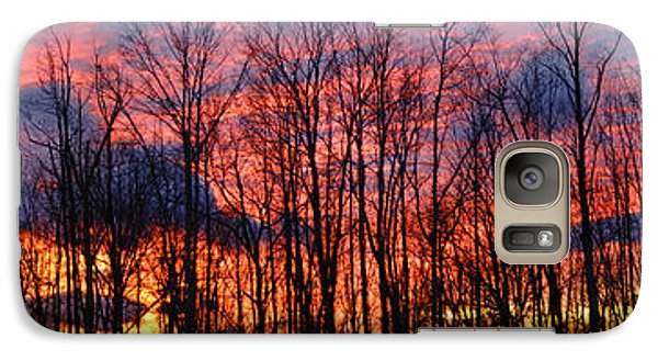 Galaxy Case featuring the photograph Winter Sunset Panorama by Francesa Miller