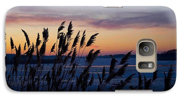 Galaxy Case featuring the photograph Winter Sunset  by Paula Guttilla