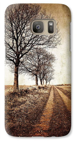 Rural Scenes Galaxy S7 Case - Winter Track With Trees by Meirion Matthias