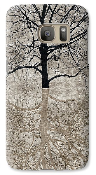 Galaxy Case featuring the photograph Winter Tree by Carol Leigh