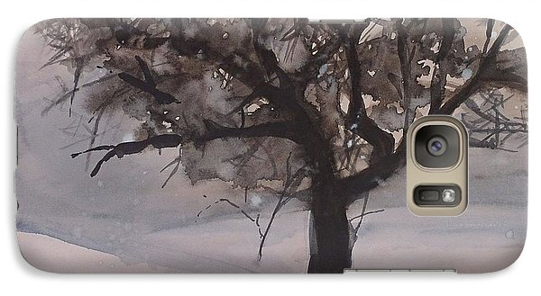 Galaxy Case featuring the painting Winter Tree by Laurie Rohner